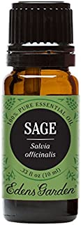 Edens Garden Sage Essential Oil, 100% Pure Therapeutic Grade (Cold Flu & Energy) 10 ml