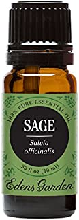 Edens Garden Sage Essential Oil, 100% Pure Therapeutic Grade (Highest Quality Aromatherapy Oils- Cold Flu & Energy), 10 ml