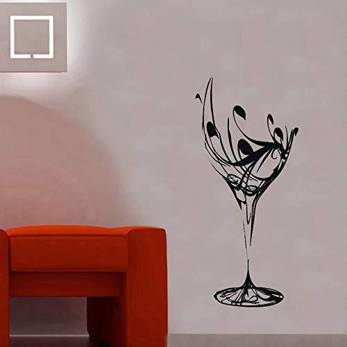 guijiumai Weinglas Vinyl wasserdichte Wandbilder Wandaufkleber für Wohnzimmer Hintergrund Wandtattoos Schönheitssalon Küche Aufkleber 71X156CM