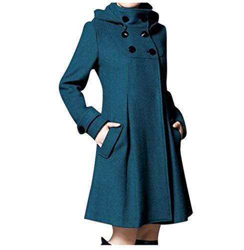 NPRADLA Damen Klassischer Trenchcoat Elegante Mantel Übergangs Jacke Doppelten Trenchcoat