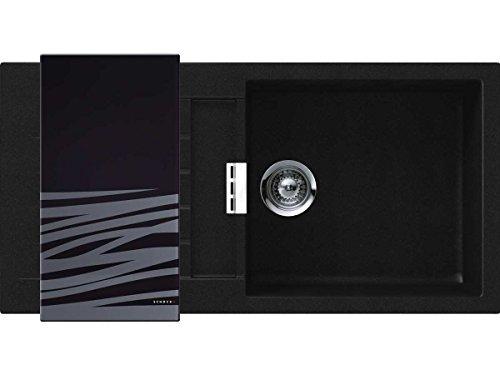 Schock SIGD100LASPUR - Fregadero de una cubeta Signus D100L Sobre encimera en color Puro