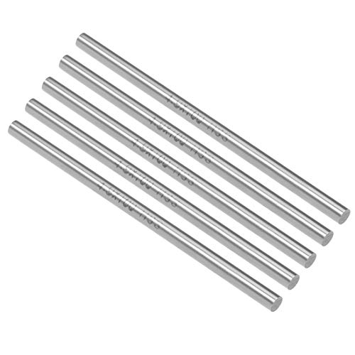 uxcell Round Steel Rod, 4.9mm HSS Lathe Bar Stock Tool 100mm Long, for Shaft Gear Drill Lathes Boring Machine Turning Miniature Axle, Cylindrical Pin DIY Craft Tool, 5pcs