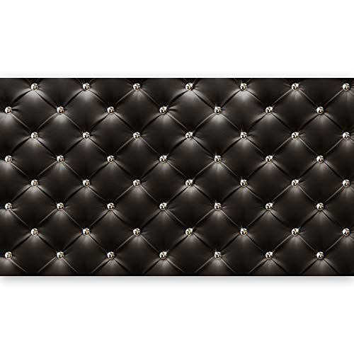 murando - Fototapete XXL Lederoptik 500x280 cm Vlies Tapeten Wandtapete XXL Moderne Wanddeko Design Wand Dekoration Wohnzimmer Schlafzimmer Büro Flur Diamant modern Textur schwarz f-B-0044-a-a