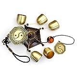 LALLing Reines Kupfer Feng Shui Windspiel Wind und Glocke Big 5 Glocken Windspiele Outdoor Hängende Dekoration Handwerk Geschenk