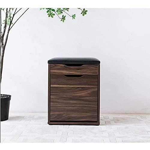 Equipo para el hogar Taburete para zapatos Taburete para zapatos Inicio Puerta de almacenamiento de madera maciza Gabinete para zapatos simple Taburete multifuncional para sofá Comodidad (Color: Ma