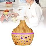 Diffusore di aroma 300ml Diffusore d'aria Umidificatore di olio essenziale aromatico Umidificatore di nebbia per aromaterapia 7 luci a LED che cambiano colore Emissione nebbia(Grano di legno scuro)