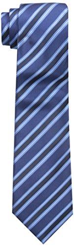 Retreez Cravate À rayures Preppy Tissée en Microfibres de Bleu