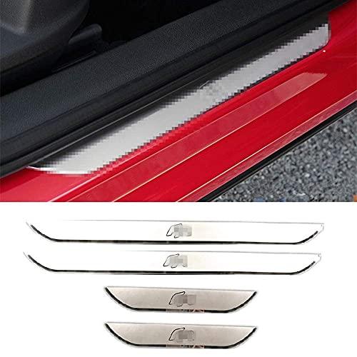 TIANP Adhesivo decorativo para el umbral de la puerta del coche, accesorio para el coche, apto para León, Arona, Ateca, Ibiza FR