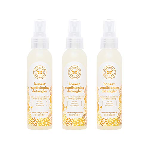 The Honest Company Conditioning Detangler, Everyday Gentle Sweet Orange Vanilla, 4 Fl Ounce, 3 Count