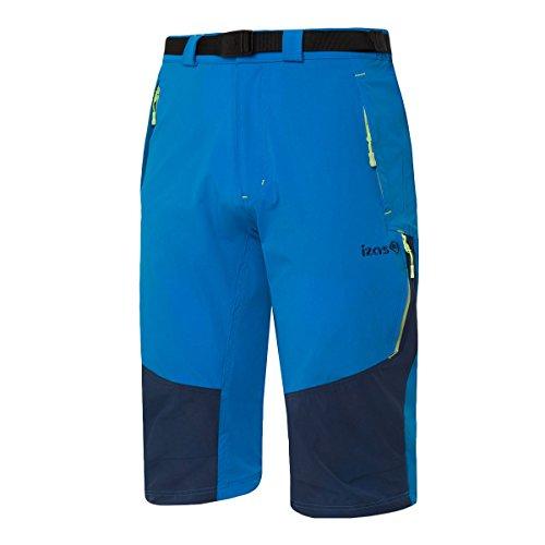 IZAS Ospika, Pantaloni Elasticizzati 3/4 Uomo, Blue River/Blue Moon/Green Piccante, M