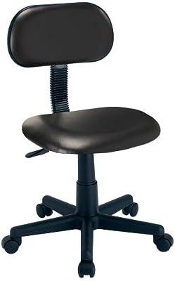 ナカバヤシ オフィスチェア デスクチェア 椅子 PVCレザー ブラック RZC-S12PBK