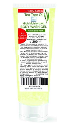 Gel disinfettante antibatterico Detergente Viso Acne, Corpo, Capelli con Tea Tree Olio 227 ml - Gel Doccia micosi unghie piede Shampoo Pidocchi bambin