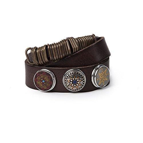 Noosa Armband Nivkh Wrap Double dark brown, Größe_Bekleidung:XS