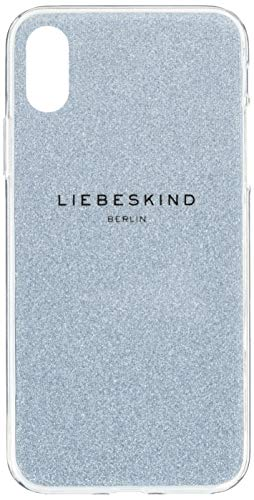 Liebeskind Berlin Damen Mobile Caps Glitter Bumper Iphonex Taschenorganizer, Blau (Light Blue Mist), 1x15x8 cm
