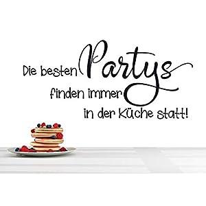 *NEU* Wandaufkleber/Wandtattoo/Wandsticker – Spruch ***Die besten PARTYS finden immer in der Küche statt*** (Größen…