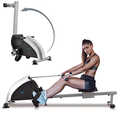 ArtSport Rudergerät Musculara klappbar für zuhause - 8 Schwierigkeitsgrade, Zeit- und Kalorienanzeige - Magnetwiderstand Rudermaschine Stahl – 100kg