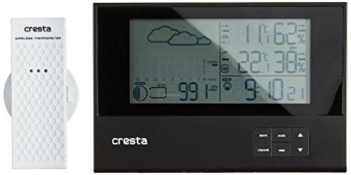 Cresta, BAR700BT draadloze barometer Weerstation Ultra Plat (zwart)