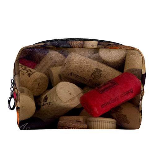 Bolsa de cosméticos para Mujeres Corcho de Vino Bolsas de Maquillaje espaciosas Neceser de Viaje Organizador de Accesorios