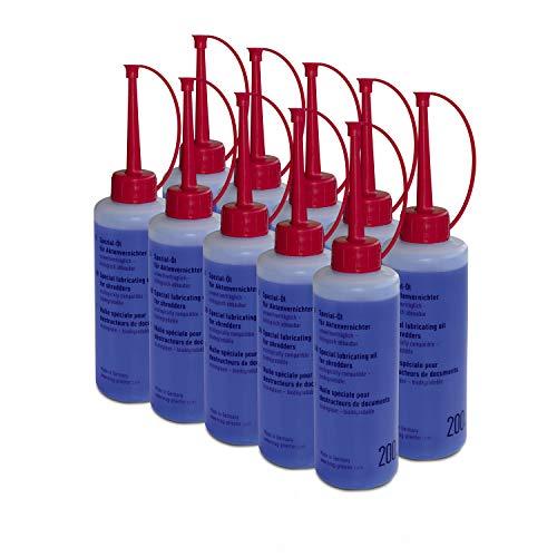 Aktenvernichter-Öl, Inhalt 200ml, Behälterform Flasche