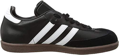 adidas Unisex-Erwachsene Samba Leder Sneaker, Schwarz (Black/Running White Footwear), 46 EU