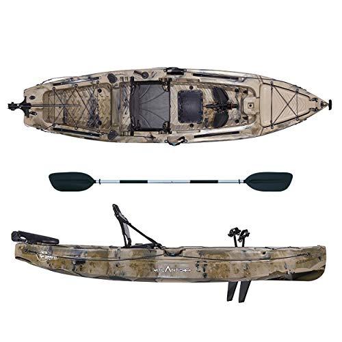 ATLANTIS Kayak-Canoa da Pesca a Pedali SAMPEI cm 390-2 gavoni - seggiolino - pagaia - timone