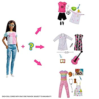 Barbie Doll with 2 Career Looks that Feature 8 Clothing and Accessory Surprises to Discover with Unboxing Gift for 3 to 7 Year Olds