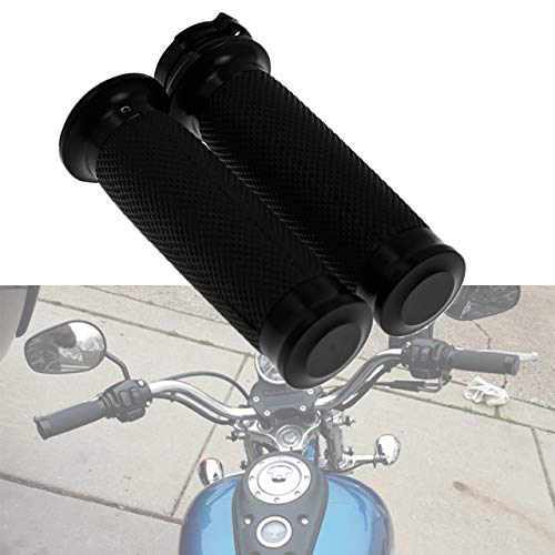 YHMTIVTU 1' Handlebar Grips 25mm Harley Hand Grips Compatible with Harley Softail Touring Dyna Sportster XL883 1200 XR VRSC