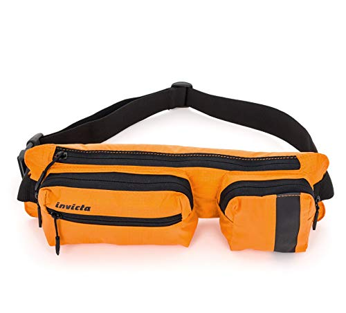 Marsupio Invicta, Big Waist Bag I Time, Arancione, Outdoor & tempo libero