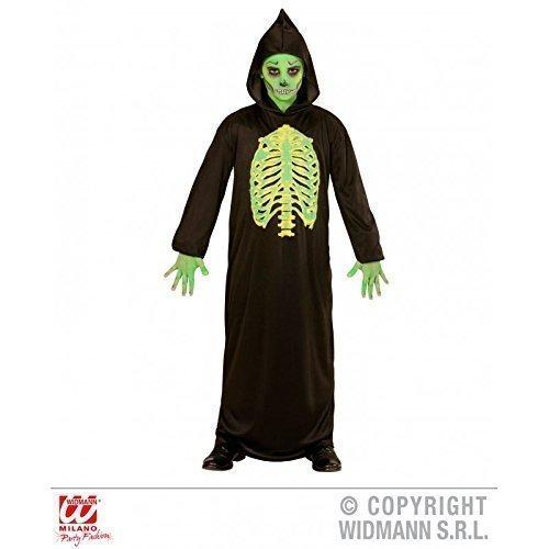 Lively Moments Einfaches Kinderkostüm / Halloweenkostüm Kostüm Tod / Seelenfänger / Toxischer Grim Reaper / Gevatter Tod für Kinder Gr. 128