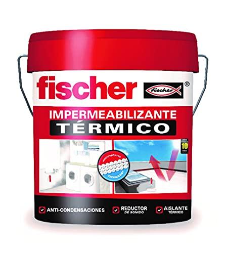 fischer - Pintura impermeabilizante térmico (cubo 20kg) resistente al agua y exteriores