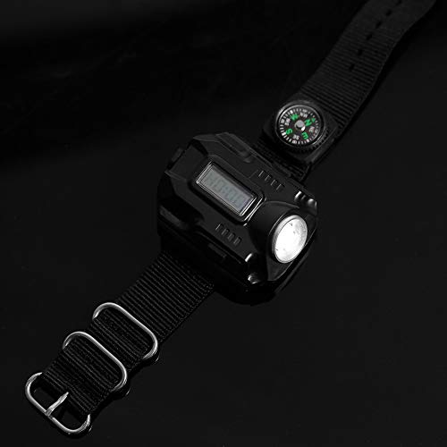 Crisist Linterna Recargable USB, Reloj de Pulsera con luz LED de antorcha, antorcha de muñeca portátil Que Camina para Acampar