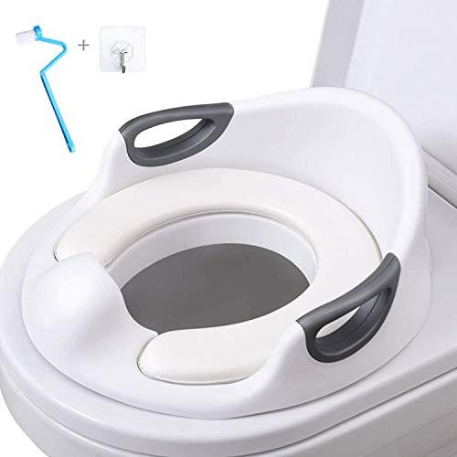 AiKiddo Töpfchentrainer Kinder | Kinder Toiletten | Toilettensitz Baby | Sitz Toilette Töpfchen Training für Kinder von 1-7 Jahren (Weiß)