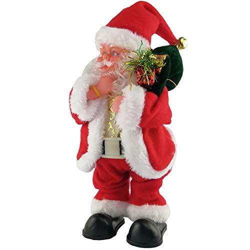 Twerking Santa Claus, Shaking Hips Walking circle Santa Claus Singing Dancing Christmas Santa Claus Toys Xmas Electric Dolls for Kids