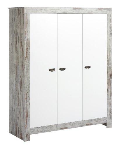 Schardt 067915600 3-türiger Kleiderschrank Nordic Chic