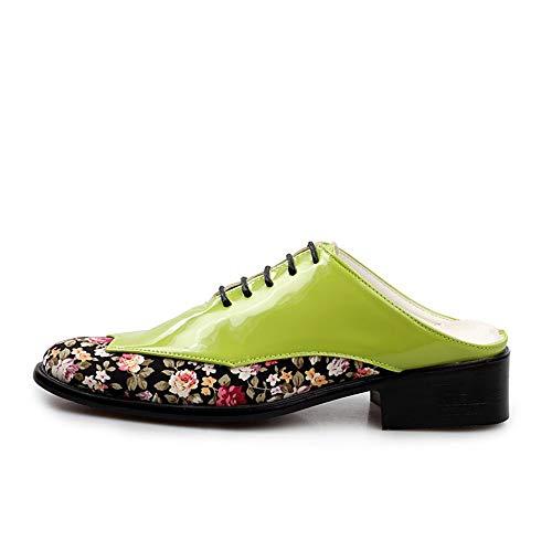 Heren Jurk Schoenen Mannen Casual Slippers Voor Muilezels Slides Flats Schoenen Klompen Backless Loafer Slip Op Patent Leer Lace Up Block Heel Duurzame oxford schoenen