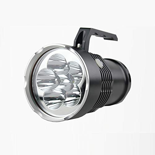 LED Rechargeable Handheld Searchlight High-Power Super Bright 9000 Ma 6000 Lumen Cree Tactique Spotlight Torche Lanterne Flashlight Convient Au Transport Quotidien