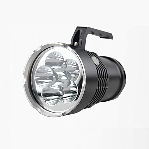weiwei LED Rechargeable Handheld Searchlight High-Power Super Bright 9000 Ma 6000 Lumen Cree Tactique Spotlight Torche Lanterne Flashlight Convient Au Transport Quotidien