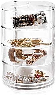 flmflmd Caja de Almacenamiento de cosméticos con la Mesa de la Cubierta Superior Caja de Maquillaje joyería Caja de Rack
