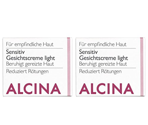 2er S Sensitiv Gesichtscreme Light Pflegende Kosmetik Alcina beruhigt gereitze Haut je 50 ml = 100 ml