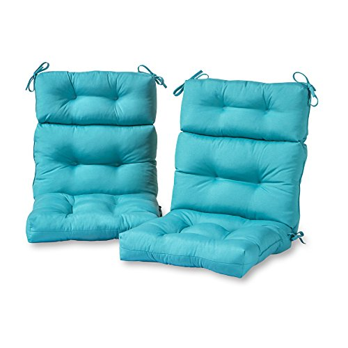 Greendale Home Fashions AZ6809S2TEAL Arctic Outdoor High Back Chair Cushion Set of 2