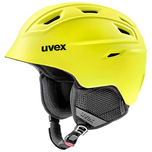 uvex Unisex– Erwachsene, fierce Skihelm, yellow mat, 55-59 cm