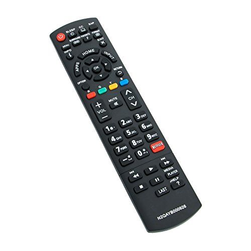 New N2QAYB000926 TV Remote Control Replacement fit for Panasonic LED LCD Smart HDTV TC-42AS630 TC-42AS630U TC-50AS630 TC-55AS530 TC-60AS530 TC-65AX900U TC-40AS520U TC60AS630U TC60AS530U TC39AS530U