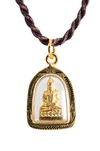 Buddha Golden Thai Amulet Pendant Weekday Birthday (Thursday - Phra Samathi Meditation)