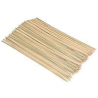 Navaris Spiedini Legno di bambù - Set x100 Bastoncini 40 cm x 4mm - Stecchini Lunghi per Grigliate Barbecue Arrosto Zucchero Filato Marshmallow Feste