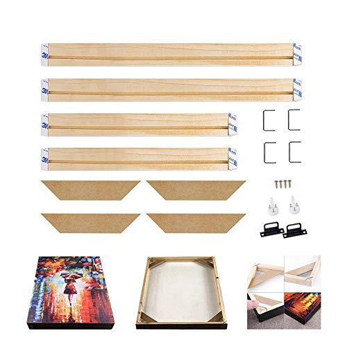 FEF Arte Grandi Poster Appendiabiti Decorazioni per la casa Grandi Dipinti su Tela Fai da Te Cornice Cornice in Legno Naturale Cornice per Pittura a D