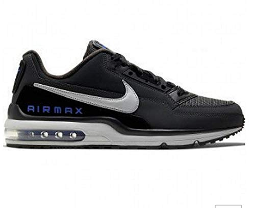 Nike Mens AIR MAX LTD 3 Running Shoe, Black/Lt Smoke Grey-Dk Smoke Grey