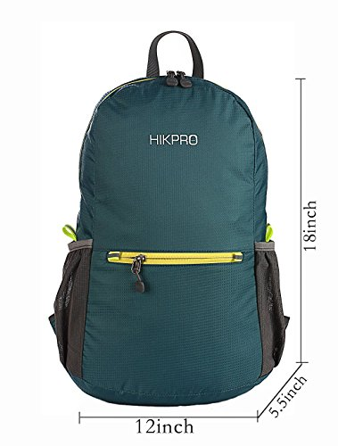 HIKPRO Version 3.0 20L Packable Backpack for Men & Women, Army Green