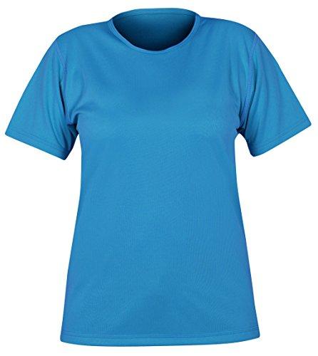 Paramo Directional Clothing Systems da Donna Maglietta a Maniche Corte Girocollo Maglietta, Donna, Cambia Short Sleeved Crew Neck, Neon Blue, XL