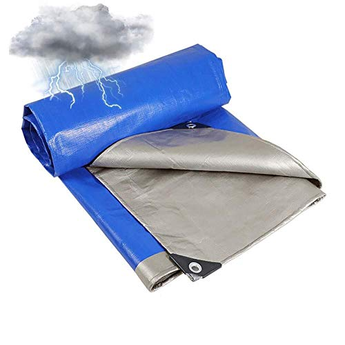 ZHANGYUQI Breathable Waterproof Tarp, Heavy Duty Tarp Cover, Waterproof Tarpaulin Camping, Multi-Purpose, UV Resistant, 11mil Thick, Rip and Tear Proof with Grommets and Reinforced Edges