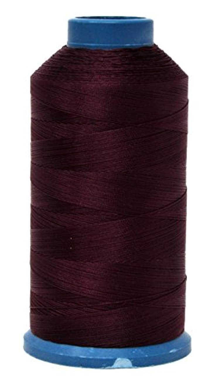 Mandala Crafts Bonded Nylon Thread for Sewing Leather, Upholstery, Jeans and Weaving Hair; Heavy-Duty; 1500 Yards Size 69 T70 (Burgundy)